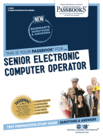 Senior Electronic Computer Operator