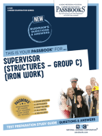 Supervisor (Structures-Group C)(Iron Work)