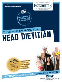 Head Dietitian: Passbooks Study Guide