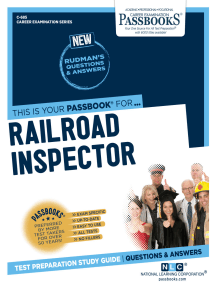Railroad Inspector: Passbooks Study Guide