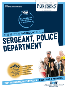 Sergeant, Police Department: Passbooks Study Guide