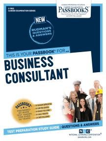 Business Consultant: Passbooks Study Guide