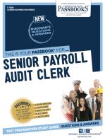 Senior Payroll Audit Clerk
