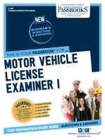 Motor Vehicle License Examiner I