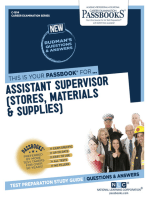 Assistant Supervisor (Stores, Materials & Supplies)
