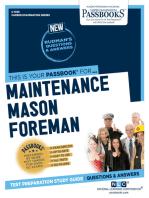 Maintenance Mason Foreman