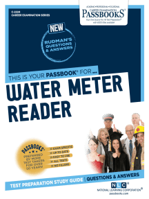 Water Meter Reader: Passbooks Study Guide