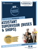 Assistant Supervisor (Buses and Shops)