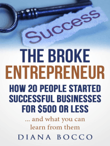 The Broke Entrepreneur: How 20 People Started Successful Businesses For $500 or Less