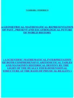 A geometrical-mathematical representation of past, present and escathological future of world history