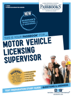 Motor Vehicle Licensing Supervisor