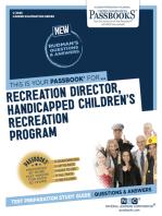 Recreation Director, Handicapped Chldren's Recreation Program