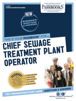Chief Sewage Treatment Plant Operator