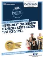 Refrigerant Containment Technician Certification Test