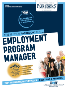 Employment Program Manager: Passbooks Study Guide