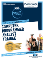 Computer Programmer Analyst Trainee: Passbooks Study Guide