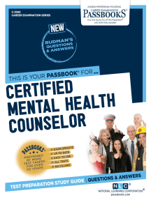 Certified Mental Health Counselor: Passbooks Study Guide