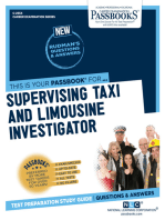 Supervising Taxi and Limousine Investigator