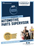 Automotive Parts Supervisor