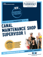 Canal Maintenance Shop Supervisor I