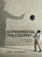 Experimental Philosophy: A Critical Study