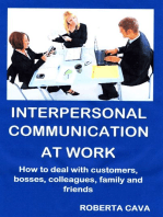 Interpersonal Communication at Work