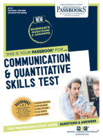 Communication and Quantitative Skills Test
