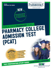 PHARMACY COLLEGE ADMISSION TEST (PCAT): Passbooks Study Guide