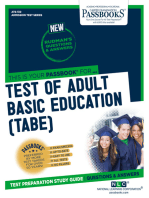 TEST OF ADULT BASIC EDUCATION (TABE)