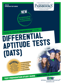 DIFFERENTIAL APTITUDE TESTS (DATS): Passbooks Study Guide