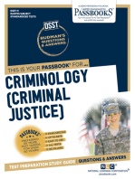 CRIMINOLOGY (CRIMINAL JUSTICE)