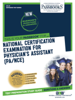 NATIONAL CERTIFYING EXAMINATION FOR PHYSICIAN'S ASSISTANT (PA/NCE): Passbooks Study Guide