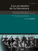 Los arrabales de la literatura: La historia de la enseñanza literaria en la escuela secundaria argentina (1860-1960)