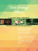 Chief Strategy Officer A Complete Guide - 2019 Edition