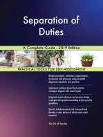 Separation of Duties A Complete Guide - 2019 Edition