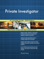 Private Investigator A Complete Guide - 2019 Edition
