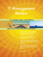 IT Management Review A Complete Guide - 2019 Edition