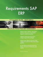 Requirements SAP ERP A Complete Guide - 2019 Edition