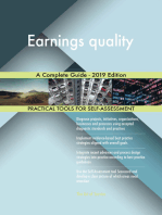 Earnings quality A Complete Guide - 2019 Edition