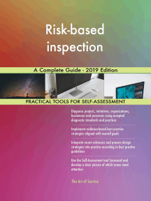 Risk-based inspection A Complete Guide - 2019 Edition