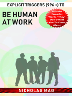 Explicit Triggers (996 +) to Be Human at Work