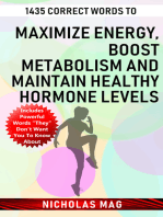 1435 Correct Words to Maximize Energy, Boost Metabolism and Maintain Healthy Hormone Levels