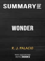 Summary of Wonder by R. J. Palacio (Trivia/Quiz for Fans)