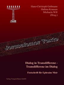 Dialog in Transdifferenz - Transdifferenz im Dialog: Festschrift für Ephraim Meir
