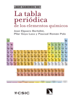 La tabla periódica de los elementos químicos