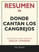 Resumen de Donde Cantan Los Cangrejos: Conversaciones Escritas Del Libro De Delia Owens