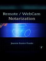 Remote/WebCam Notarization : Basic Understanding