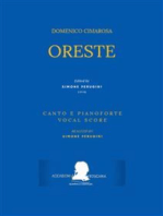 Oreste (Canto e pianoforte - Vocal Score)