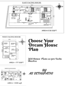 Choose Your Dream House Plan( 200 House Plans as per Vastu Shastra)