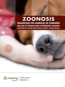 Zoonosis transmitidas por animales de compañía: Una guía de consulta para veterinarios y médicos clínicos